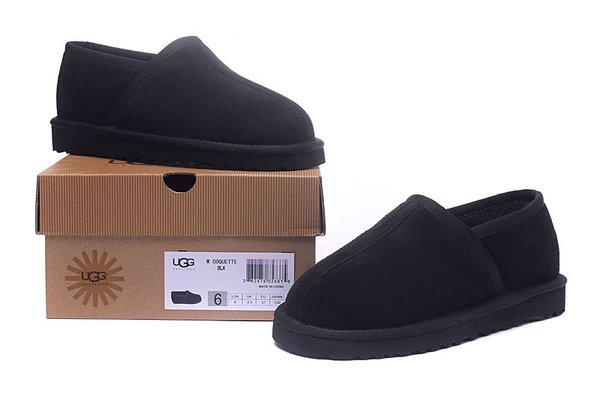 Ladies UGG Custom Classic Slipper Black Sheepskin Wool House-Shoes (USA LADIES SIZE 5 - 12 ONLY)