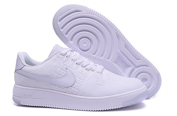 Ladies Nike Air Force 1 Ultra Flyknit Low White & Radiant Emerald Sneakers