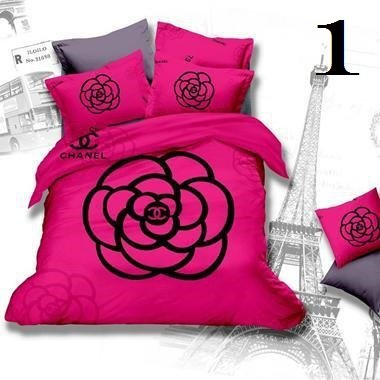 Chanel Luxury High-Quality 6 Pc Brand Bed-Set