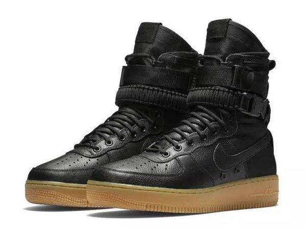 Men's Nike Special Field Air Force 1 High Black & Gum Sneakers Boot