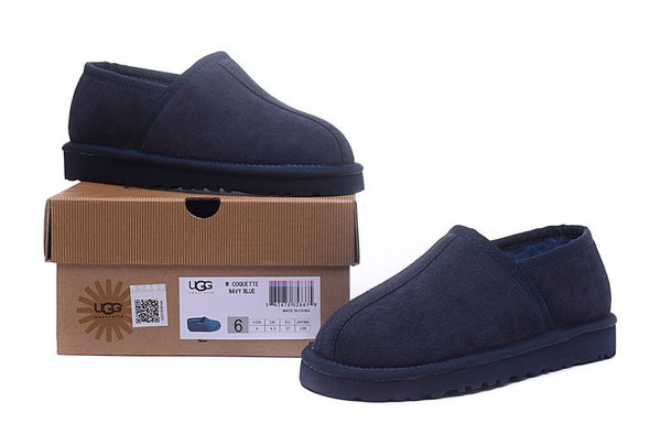 Ladies UGG Custom Classic Slipper Blue Sheepskin Wool House-Shoes (USA LADIES SIZE 5 - 12 ONLY)