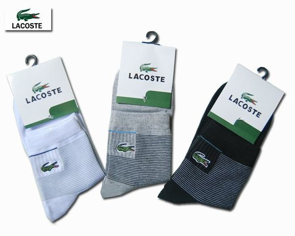 Lacoste Custom Striped Basic Crew Socks 1399502