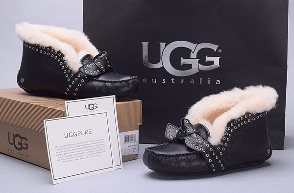 Ladies UGG Custom White Classic Cuff Mini Gold Rings Shoes (USA LADIES SIZE 5 - 8 ONLY)