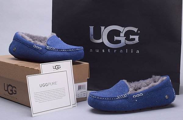 Ladies UGG Pure Blue Custom Ansley Glitter Studded Slippers (USA LADIES SIZE 5 - 8 ONLY)