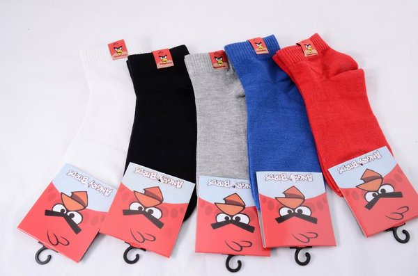 Angry Birds No Show 'One Size Fits All' Ankle Socks (Shipping Included)