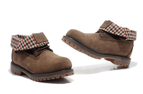 Men's Timberland Roll Top Shirt Neck 44514 Classic-Brown Boots
