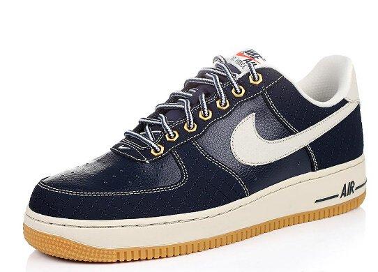 Men's Nike Air Force 1 Low Obsidian Light-Gum Light Brown Sneakers