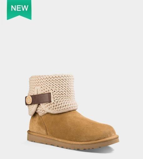 Ladies UGG Wheat Chestnut Shaina Suede Knitted Boots (USA LADIES SIZE 4 - 8 ONLY)