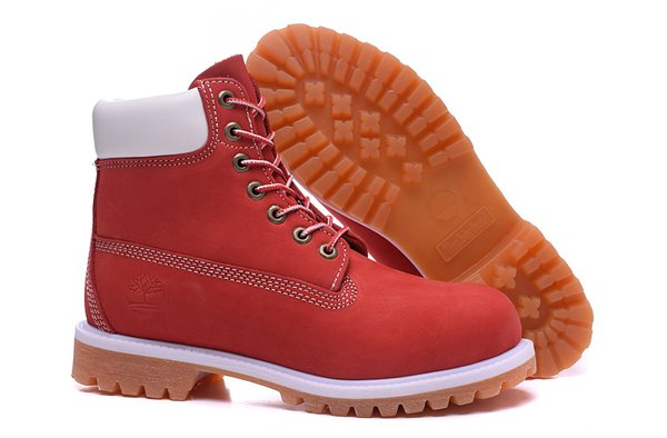 Men's Timberland 6 Inch 10061 White & Wheat Sole Boots (3 Colors Available)