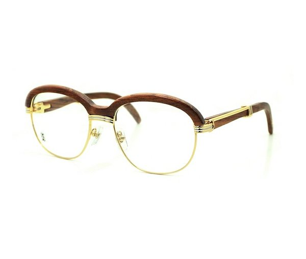 Unisex Cartier Malmaison Palisander Rosewood Glasses (Special Edition) (Free 3-5 Day Shipping)