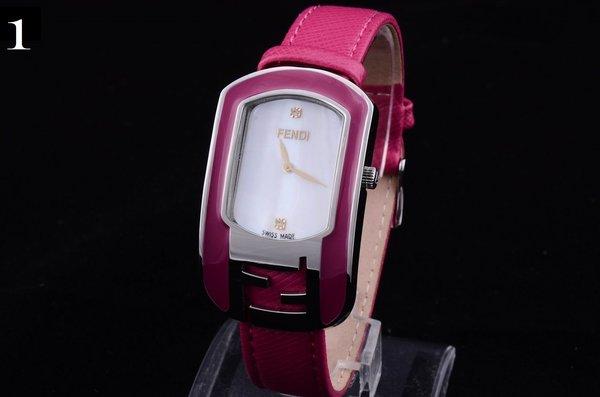 Ladies Fendi Custom Leather Mother-of-pearl Fashion Watch 2271219