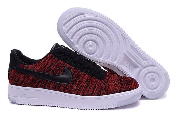 Ladies Nike Air Force 1 Ultra Flyknit Low Black/Team Red/Clear Jade/Black Sneakers