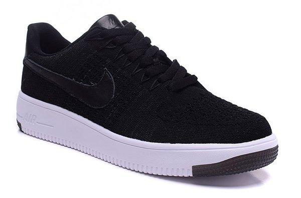 Ladies Nike Air Force 1 Ultra Flyknit Low Black & White Sneakers