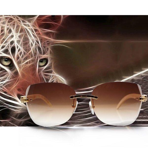 "Cartier ""C"" Décor Bubinga Wood Retro Buffalo Horn Sunglasses (Free 3-5 Day Shipping)"