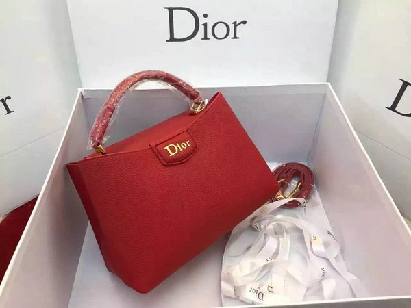 Vintage Dior Calfskin Leather Silvery Top Handle Bag