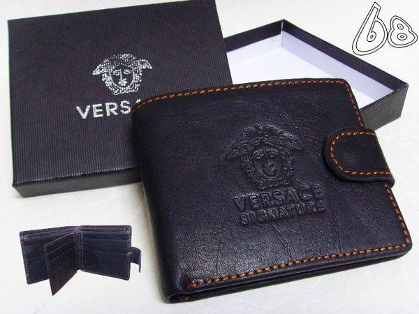 Men's Versace Custom Medusa Engraved Leather Wallet