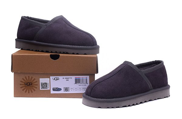 Ladies UGG Custom Classic Slipper Grey Sheepskin Wool House-Shoes (USA LADIES SIZE 5 - 12 ONLY)