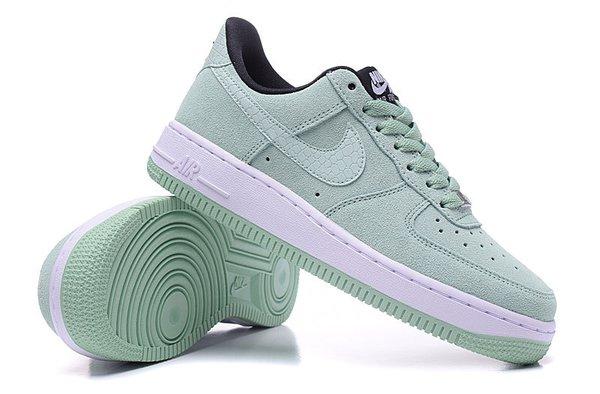 Ladies Nike Air Force 1 07 Low Seasonal Enamel Green Sneakers