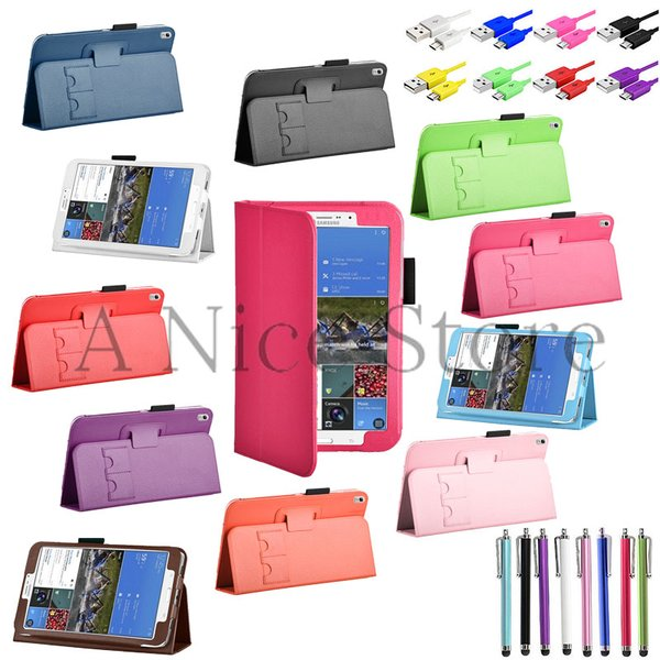 Galaxy Tab Pro 8.4 Leather Folding Folio Magnetic Case Cover Skin For