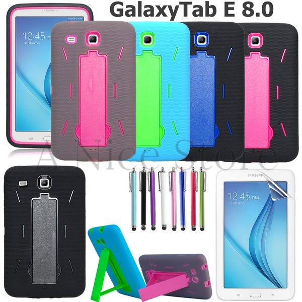 "Samsung Galaxy Tab E 8.0"" Hybrid Dual Layer Protective Case W/ Kickstand"