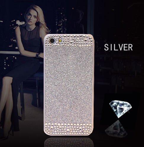 iPhone 5S/5 Glitter Bling Case,Luxury Slim 3D Bling Handmade Case for iPhone 5S/5, SIL