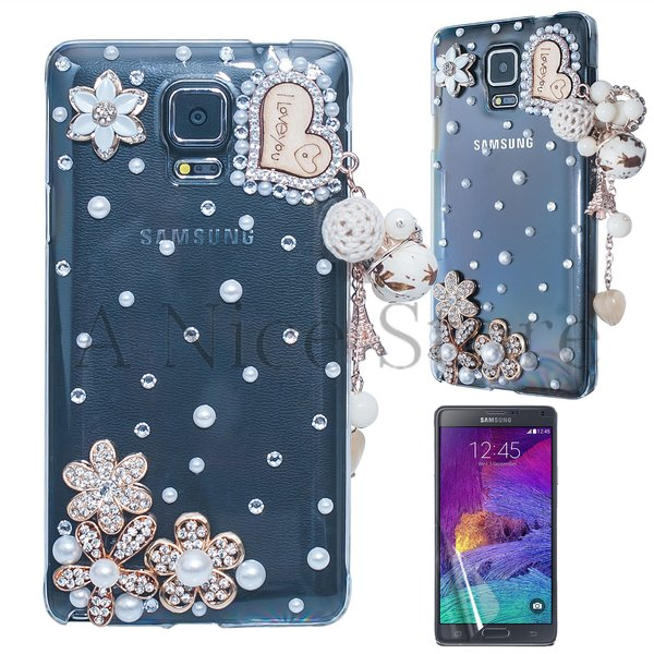 Samsung Galaxy Note 4 Luxury 3D New Bling Handmade I Love You With Heart Case