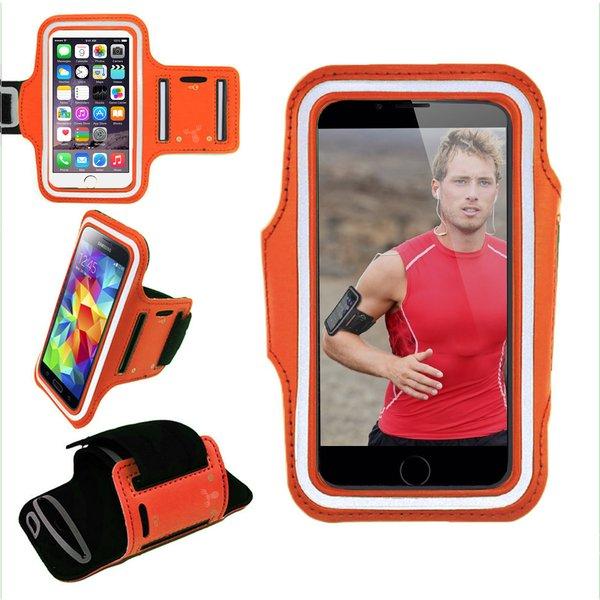 Armband, Universal Premium Water Resistant Jogging Sport Armband with Key Holder for Smart Phone, Orange