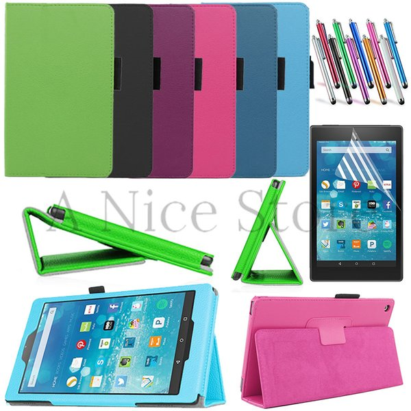 "Amazon Kindle Fire HD 8 8.0"" Tablet 2015 New PU Leather Case Folio Cover Stand"