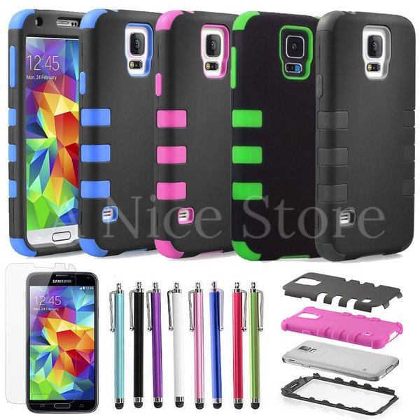 Samsung Galaxy S5 Colorful Heavy Duty Hybrid Rugged Hard Case Cover