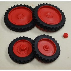 Set of 4 Row Crop Wheels 1:32 Scale by Artisan 32 37012/F + B