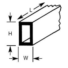 RTFS-10 Plastruct - Rectangular Tubes 7.9mm x 6.4mm