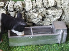 WM038W Water Trough with Water 1:32 Scale by HLT Miniatures