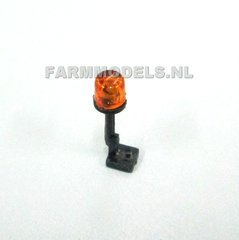 Orange Tractor Lights Beacon with Support 1:32 Scale by Artisan 32 22376