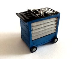 1 x Blue Tool Box/Trolley 1:32 Scale by AT-Collection 32500