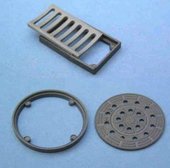 Drainage Set, Manhole Cover and Drain1:32/1:35 Scale FB750