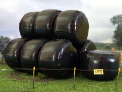 FB035 10x Wrapped Silage Bales 1:32 scale by HLT