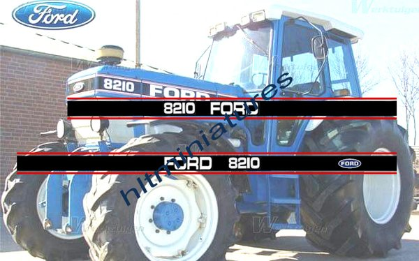 Ford 8210 Tractor Self Adhesive Decals Sticker 1 32 Scale