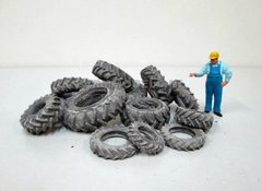Assorted Old Weathered Tractor Tyres by Juweela 23350