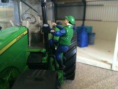 WM085 Climbing Tractor Driver by HLT Miniatures