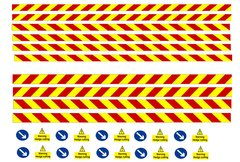 DEC02 Self-adhesive hedge cutter set decals 1:32 Scale by HLT