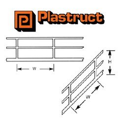 SRS-4 HO Gauge Stair Rail Plastruct (2 pack) 1:100 Scale