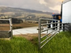 Gate and Post Set 12ft 1:32 Scale by HLT Miniatures WM035