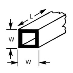 STFS-4 Plastruct - Square Tubes 3.2mm