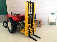 BECO009 Bevro Forklift Farm Implement - Yellow