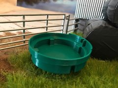 1500l Circular Water Cattle Drinking Trough 1:32 Scale by Minimaker BX5BAE15