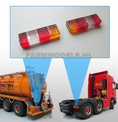 Rectangular Tail Lights t 1:32 Scale by Artisan 32 22084