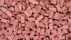 23028 Dark Red Brick 1:32/1:35 Scale Building by Juweela