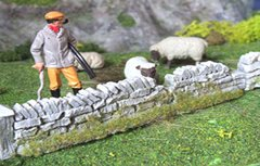 1 x Grey Section Damaged Premier Low Roadside Dry Stone Wall Any Scale PW1DAM