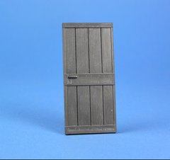 Wood Door without Casing 1:32/1:35 Scale FB502