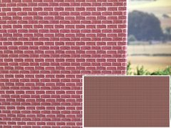 FBW05 5x Sheets of Red Brick Wallpaper 1:32 Scale by HLT Miniatures